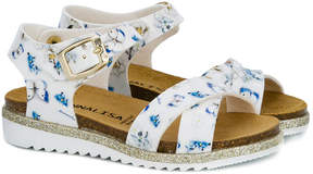 MonnaLisa floral butterfly print sandals