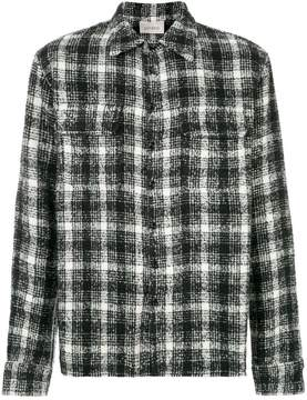 Laneus checked shirt