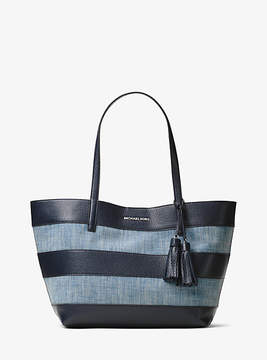 Michael Kors Large Canvas And Leather Tote
