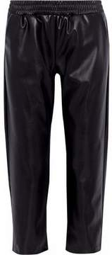 Cushnie et Ochs Cropped Faux Leather Straight-Leg Pants