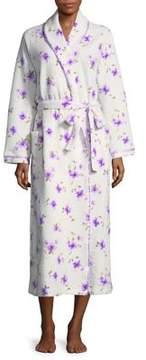 Carole Hochman Floral-Print Long Robe
