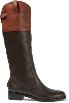 Halston Barbra Two-Tone Leather Boots