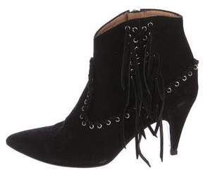 IRO Fringed Suede Ankle Boots