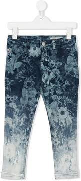 Diesel gradient floral jeans