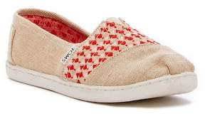 Toms Natural Embroidered Slip-On Sneaker (Little Kid & Big Kid)
