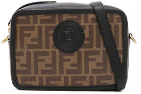 Fendi Mini Logo Print Emblem Camera Case