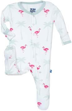 Kickee Pants Flamingo Print Footie