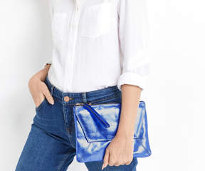 Oasis Leather Dex Clutch