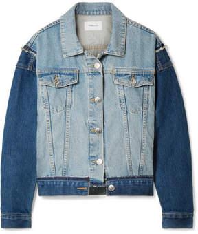 Current/Elliott The Carina Oversized Denim Jacket - Mid denim