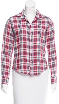 Frank And Eileen Plaid Linen Top