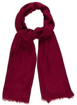 Oscar de la Renta Frayed Knit Scarf