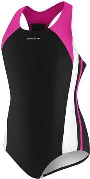 Speedo Girls 7-16 Infinity Splice One-Piece Swimsuit