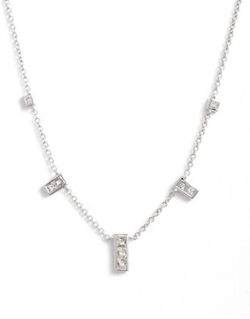 Bony Levy Women's Diamond Rectangle Dangle Station Necklace (Nordstrom Exclusive)