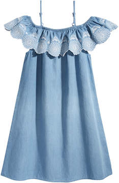 Epic Threads Embroidered Cotton Denim Dress, Big Girls, Created for Macy's