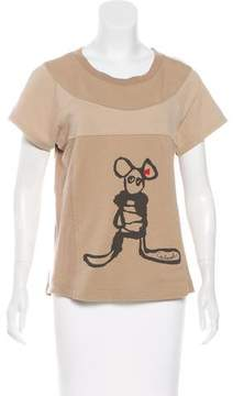 Cacharel Graphic Short Sleeve Top
