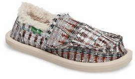 Sanuk Girl's Lil Donna Ice Chill Faux Fur Slip-On
