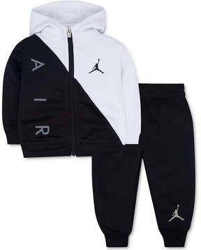 Jordan 2-Pc. Thermal Activewear Front-Zip Hoodie & Pants Set, Little Boys (4-7)