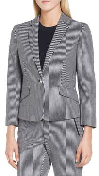 BOSS Katemika Stripe Stretch Cotton Suit Jacket