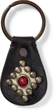 Ralph Lauren Studded Leather Key Fob