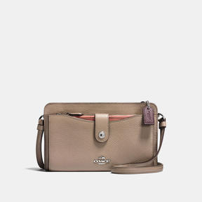COACH Coach Pop-up Messenger In Colorblock - SILVER/STONE/MELON MULTI - STYLE