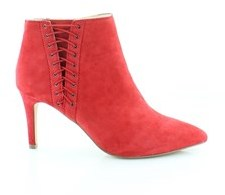INC International Concepts Womens Tovie Leather Pointed, Bright Red, Size 7.0.