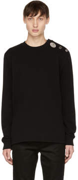 Givenchy Black Crystal Button Sweater