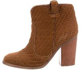 Laurence Dacade Suede Woven Ankle Boots