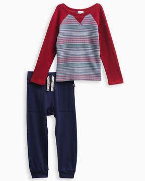Splendid Little Boy Striped Raglan Set