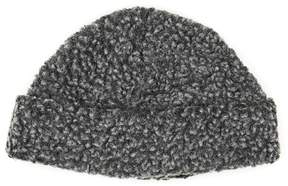 Topman Gray Boucle Textured Beanie Hat