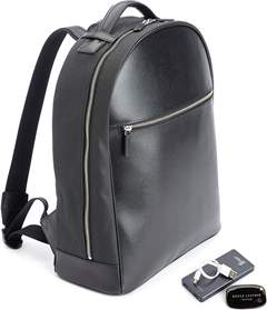 Royce Leather Saffiano Leather 15 Inch Laptop Backpack With Tracking Technology.
