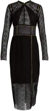 Sophie Theallet Zip-detail guipure-lace dress