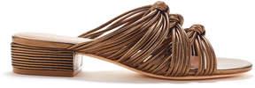 Rachel Zoe Wren Knotted Metallic Leather Slides