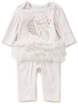 Baby Starters Baby Girls Newborn-9 Months Fox Ruffled Coverall