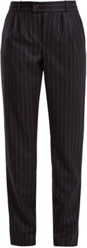A.P.C. Keaton pinstriped brushed-wool trousers