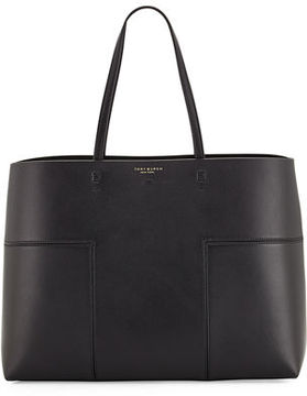 Tory Burch Block-T Leather Tote Bag - AGED VACHETTA - STYLE