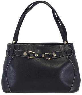 Kate Spade Black Leather Horseshoe Buckle Bag - BLACK - STYLE