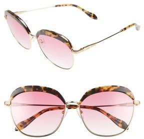 Sonix Women's Birdie 60Mm Oversize Sunglasses - Brown Tort/ Rouge Tint