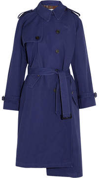 Balenciaga Pulled Oversized Cotton-canvas Trench Coat - Navy