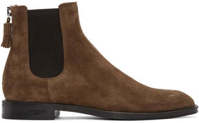 Givenchy Brown Suede Chelsea Boots