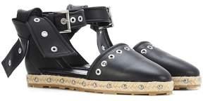 Alexander McQueen Embellshed leather espadrilles