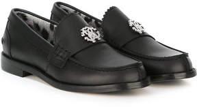 Roberto Cavalli metal logo loafers