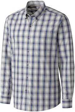 Cutter & Buck Navy & White Plaid Button-Up - Men