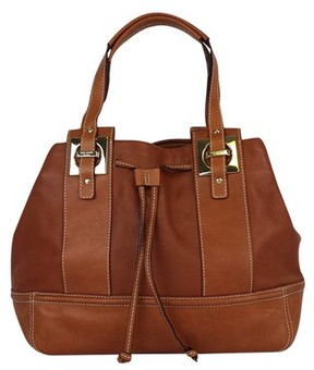Kate Spade Cognac Leather Shoulder Bag - BROWN - STYLE