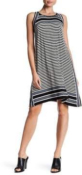 Max Studio Sleeveless Mixed Stripe Jersey Dress