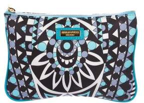 Emilio Pucci Leather-Trimmed Printed Zip Pouch