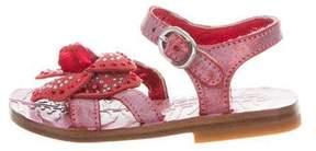 Roberto Cavalli Girls' Embellished Leather Sandals