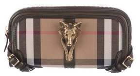 Burberry House Check Alma Clutch - NEUTRALS - STYLE