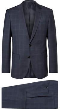HUGO BOSS Blue Checked Super 120s Virgin Wool Suit
