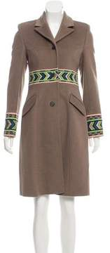 Matthew Williamson Embroidered Wool Coat