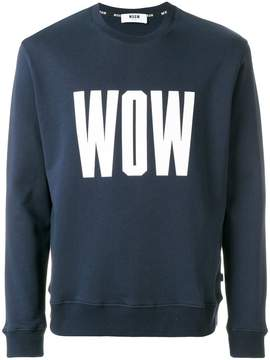 MSGM logo embroidered sweatshirt